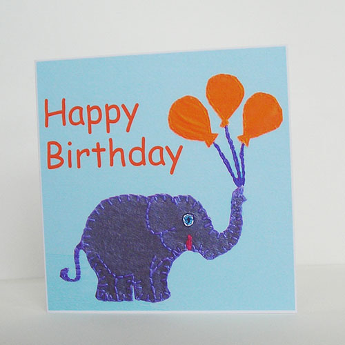 Baby Elephant Birthday Card Folksy