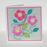 Wild Rose Birthday Card