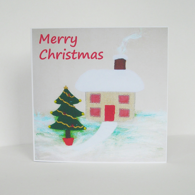 Snow Cottage Christmas Card