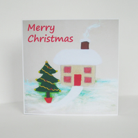 Snowy Cottage Christmas Card