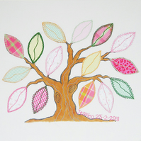 Memory Tree Craft Sewing Kit -  Applique and Embroidery