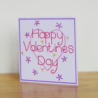 Heart and Flowers Valentines Card