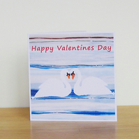 Swans Valentines Card