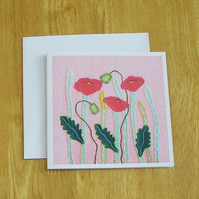 Poppy Meadow Greetings Card