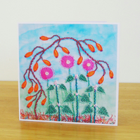 November Hedgerow Greetings Card