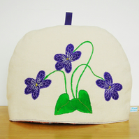Violet Flowers Large Tea Cosy