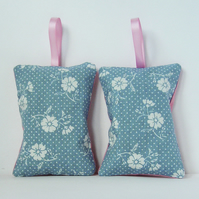 Pale Blue Floral Lavender Bag Pair