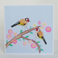 Goldfinch Bird Greetings Card