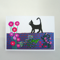 Cat On A Wall Card
