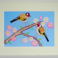 Goldfinches Print