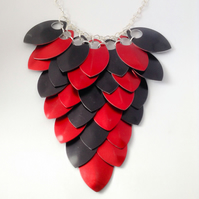 Statement Necklace, Scale Mail, Bib Necklace, Gothic Jewellery, Bridesmaid Neckl