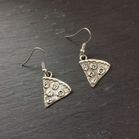 Pizza Earrings, Food Earrings, Fast Food Jewellery, Gift For Best Friend