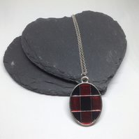 Red and Black Pendant, Harlequin Jewellery, Black and Red Gothic Pendant