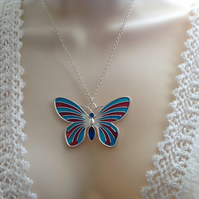 Butterfly Necklace, Butterfly Pendant, Nature Themed Gift