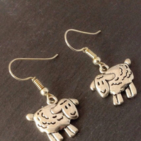 Sheep Jewellery, Sheep Gift, Farm Animal Jewellery, Novelty Earrings,