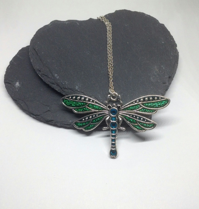 Dragonfly Necklace, Dragonfly Jewellery, Dragonfly Pendant, Mum Birthday Gift