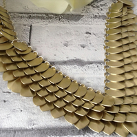 Gold Collar Necklace, Egyptian Jewellery, Aluminium Necklace