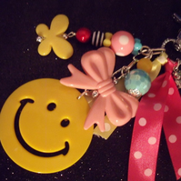 yellow jayme smiley bagcharm