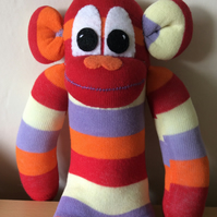 Sock monkey called digby by Sunnyteddys designs