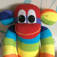 Dave the sock monkey by Sunnyteddys designs
