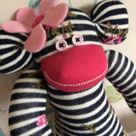 Sally ann sock monkey by  Sunnyteddys designs