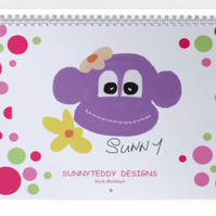Sock monkeys calendar 2017 by Sunnyteddy designs