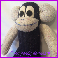 Pringle the Sock Monkey by Sunnyteddys designs