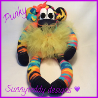 Punky the Sock Monkey by sunnyteddy designs