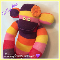 Sally Ann the Sock Monkey by Sunnyteddy designs