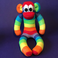 Sock Monkey rainbow by Sunnyteddy designs