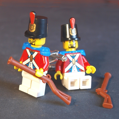 LEGO (r) Toy Soldier Cufflinks Redcoats Battling with Pirates of the Seas
