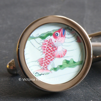 Fish Cufflinks Beautiful Original Art Nouveau Design