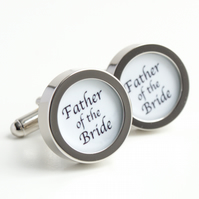 Father of the Bride Cufflinks, for your wedding party