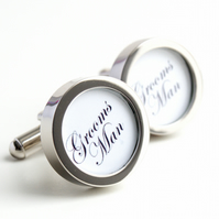 Groomsman Cufflinks Personalised Wedding Cufflinks for All Your Wedding Party