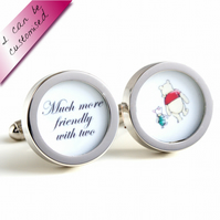 Winnie the Pooh and Piglet Cufflinks 'Much more friendly with two'