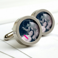 Vintage 1920s Erotic Nude Cufflinks - Naked Girls in the Garden