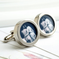 1920s Erotic Nude Cufflinks - Two Naked Girls Together