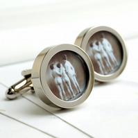Vintage 1920s Nude Cufflinks - Three Naked Girls Together