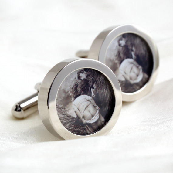 Naked Bottom Cufflinks 1920s Vintage Nude Bottom in a Haystack Cufflinks