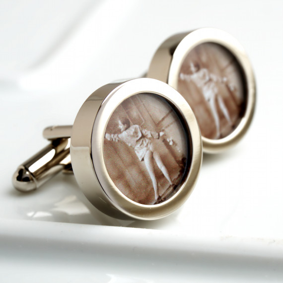Bottom Cufflinks 1920s Vintage Nude Bottom Cufflinks