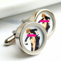 Naked Spy Erotic Cuff Links