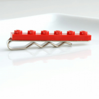 Red Lego Tie Clip for Weddings Fun & Special Occasions, more colours available