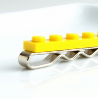 Yellow Lego Tie Clip for Weddings Fun & Special Occasions, more colors available