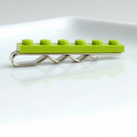 Lime Green Lego Tie Clip for Weddings Fun & Special Occasions