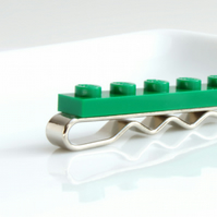 Green Lego Tie Clip for Weddings Fun & Special Occasions, more colours available