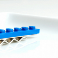 Blue Lego Tie Clip for Weddings Fun & Special Occasions, more colours available