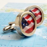 Stars and Stripes Flag of the United States Cufflinks - or Choose Your Flag
