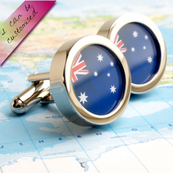 Flag of Australia Cufflinks - or Choose Your Country