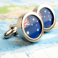 Flag of Australia Cufflinks - or Choose Another Country