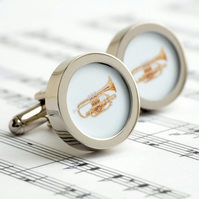 Cornet Cufflinks Instruments from the Brass Section